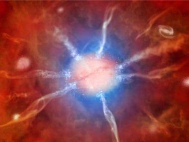 ilustração da região central do aglomerado de galáxias