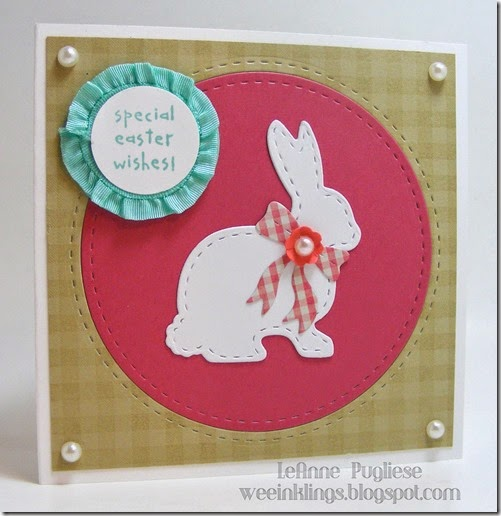 LeAnne Pugliese WeeInklings ColourQ235 Easter Wishes LilInker Bunny Stampin