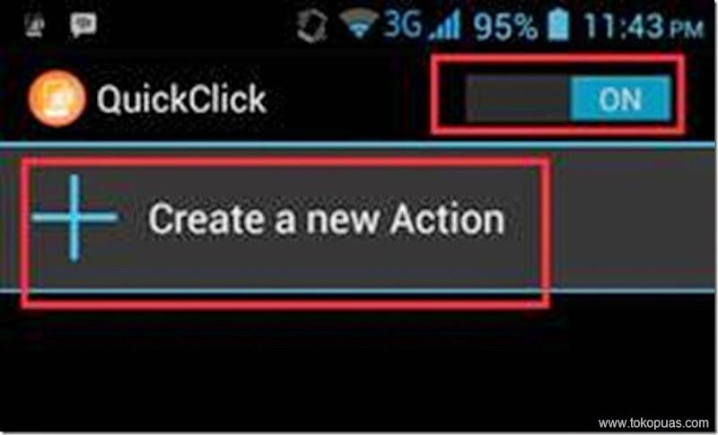 membuat shortcut baru di tombol volume android