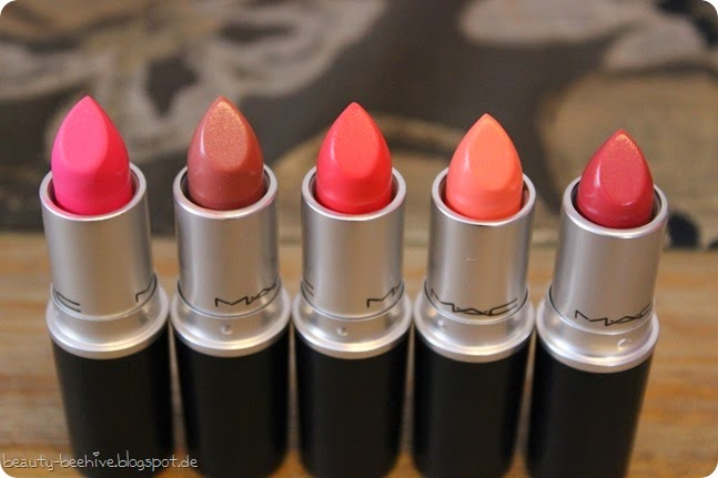 MAC is Beauty LE Lippenstifte Lipsticks Swatches Real Redhead Silly Reel Sexy Make me gorgeous call the hairdresser 1