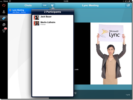 Lync ipad 2