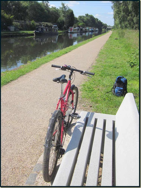 On the newly created Sustrans cycle track by the Bridgewater Canal in Sale - 20 June 2011