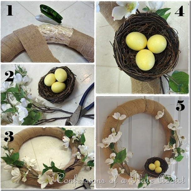 CONFESSIONS OF A PLATE ADDICT Spring Wreath Tutorial