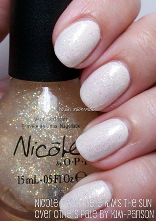 Nicole by OPI Here Kim's The Sun over Others Pale by Kim-parison