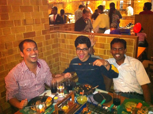At the lovely Barbeque nation