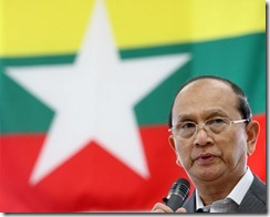 President Thein Sein Burma earthquake
