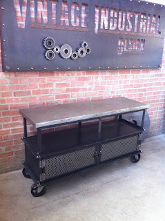 "5' x 20"" x 34"" T Ellis console with Zinc top"