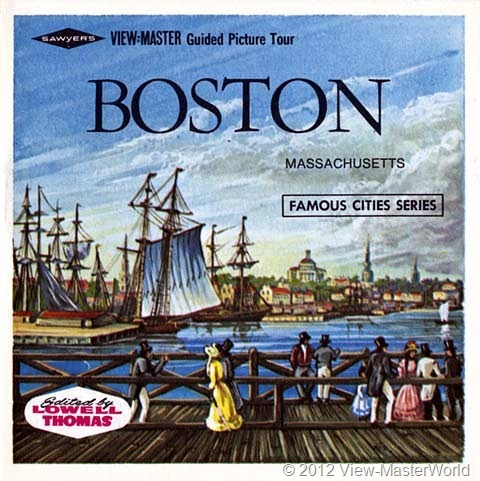 View-Master Boston (A726), booklet cover