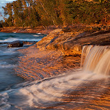 Late afternoon light on the Lake Superior shoreline / Pictured Rocks National Lakeshore / East of Munising in Upper Mi.