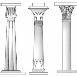 03 - Tipos de columnas egipcias (lotiforme, papiriforme y palmiforme)