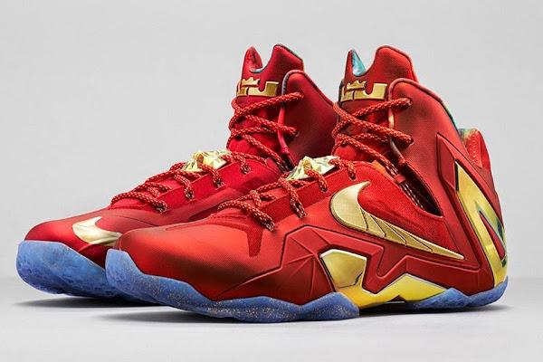 Release Reminder Nike LeBron 11 Elite SE Red amp Metallic Gold