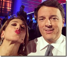 Barbara D'Urso e Matteo Renzi