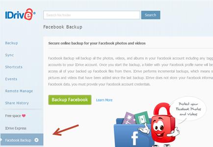 การ backup ข้อมูลภาพถ่ายและวีดีโอใน facebook