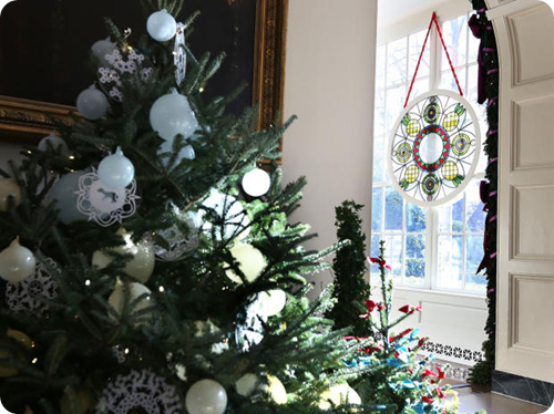 White House Christmas Decor East Wing 2012