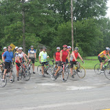 The Breakfast Ride contingent of the Four County Ride - 08-08-09
