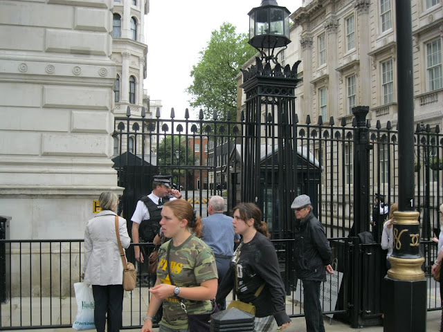 Outside Downing St. Can't actualy go down there at all. #10 is on the right near the end.