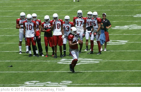 'The master #11 Larry Fitzgerald and his students' photo (c) 2012, Broderick Delaney - license: http://creativecommons.org/licenses/by/2.0/