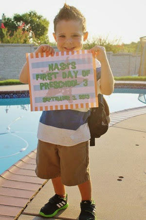 Nash's First Day of Preschool 009