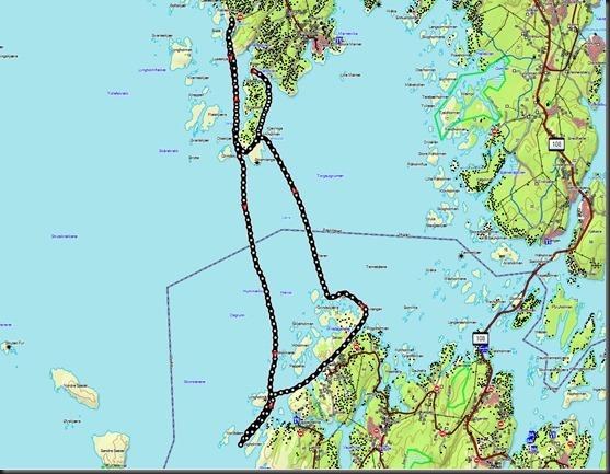 Kart Jupeklo til Lyngholmen