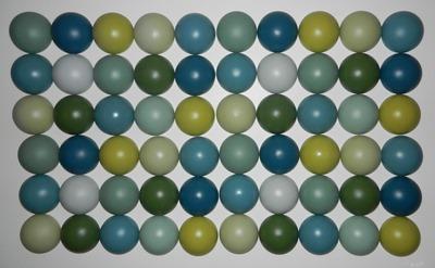 Broakulla half-ball wall art decorative object by Katarina Brieditis