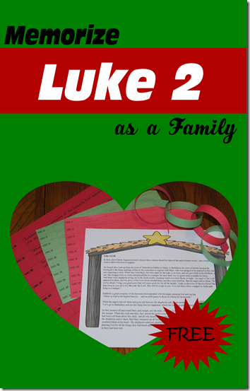 How to memorize verses as a family - Memorize Luke 2 as a Family printable to help your family keep Christ in Christmas this December. Even my 3 year old learned this entire passage easily.