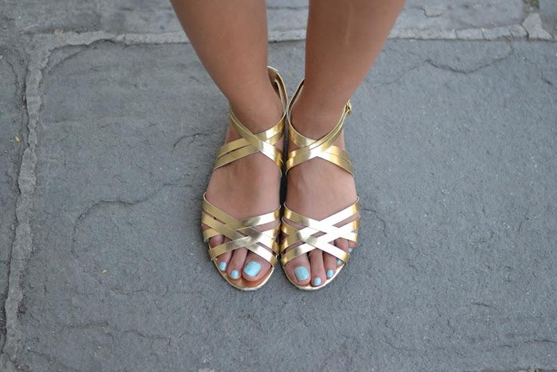 H&M Sandals, H&M, Sandals, Gold sandals, Le Vernis Chanel, Nouvelle Vague Chanel
