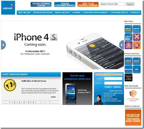 iPhone 4S - Celcom