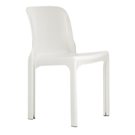 Heller reissue of Selene chair, white