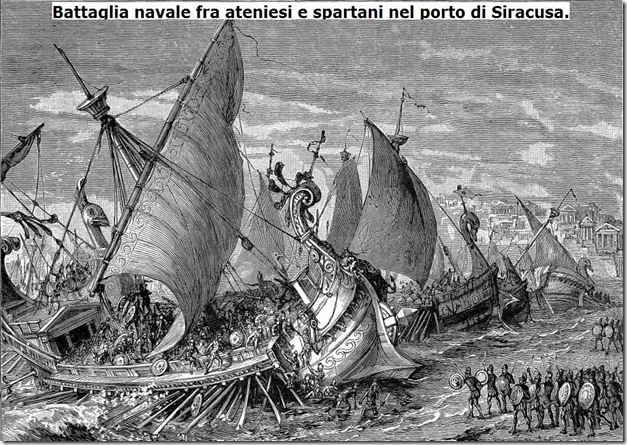 battaglia navale nel porto di Siracusa