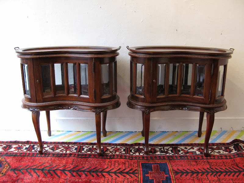 Kidney Side Table Pair