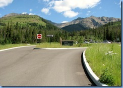 1360 Alberta Red Rock Parkway - Waterton Lakes National Park - Red Rock Canyon sign & parking  at end of road