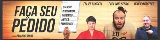 """Paulinho Serra, da MTV, apresenta a comédia """"Faça seu pedido"""" em Indaiatuba"""