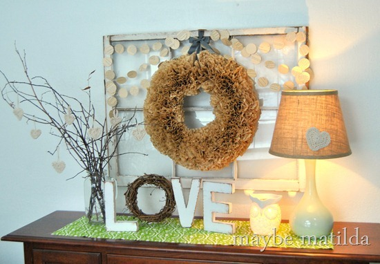 Rustic Neutral Valentine Display by Maybe Matilda
