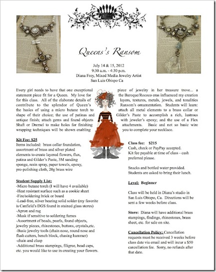 Queen's Ransom flyer