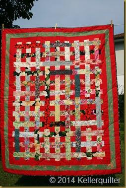 Quilt140-Blumenwiese im Abendrot