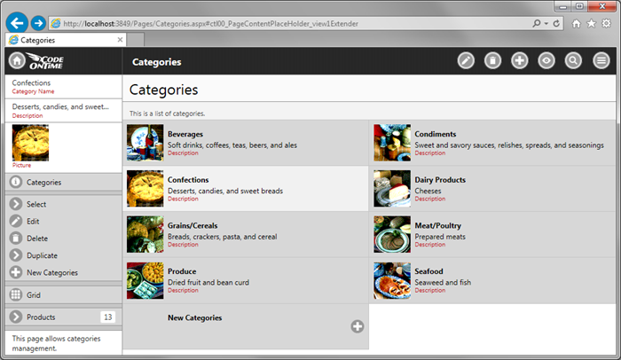 Web app with Touch UI served by IIS Express in Internet Explorer on the development machine.