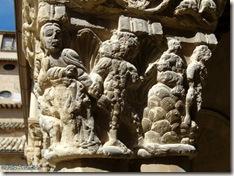 Capitel de las tentaciones de Cristo - Claustro de San Pedro el Viejo - Huesca