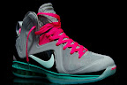 nike lebron 9 ps elite grey candy pink 6 07 LeBron 9 P.S. Elite Miami Vice Official Images & Release Date