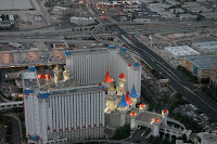 Excalibur from the air