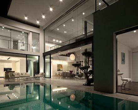 Casa contempor nea con influencia del estilo bauhaus de - Bauhaus iluminacion interior ...