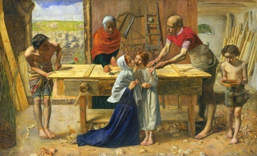 John Everett Millais Christ in the House of His Parents `The Carpenter s Shop Google Art Project s