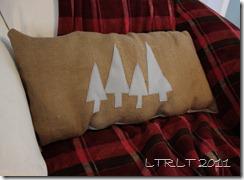 Felt Tree & Burlap pillow