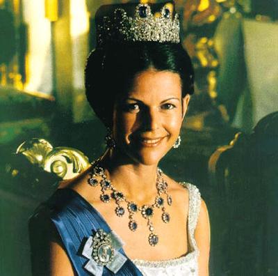AderezoLeuchtenberg  La Reina Silvia poco despues de su matrimonio