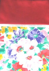 pillowcase first one floral and red