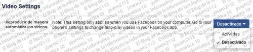Reproducción automática de vídeos en Facebook - categoría vídeos