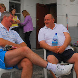 Winners of the Lovely Legs Event at Castlebar Tennis Open 2009.note the female fans in the background who can hardly restrain themselves.