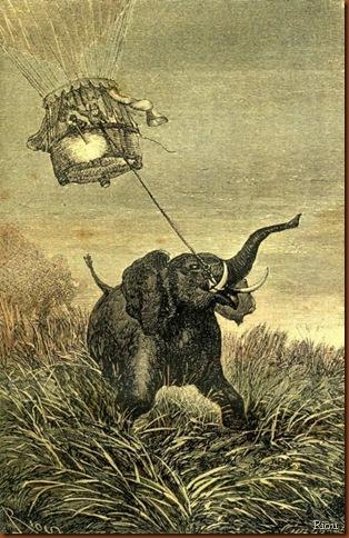 Jules Verne. Riou. Éléphant