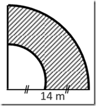 Gambar 1 Menghitung Luas Juring Lingkaran yang Diarsir