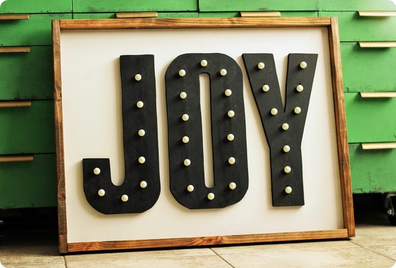 DIY JOY MARQUEE SIGN