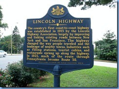 2034 Pennsylvania - PA Route 462, Columbia, PA - Lincoln Highway marker